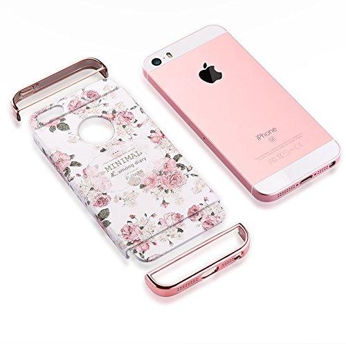 "Apple iphone Schutzhülle Kreativität handlich abziehbar case 3D Reliefmalerei Slim PC Hard Back Case Cover (iPhone 5/5S/5SE 4"", Eiffelturm) Blatt"