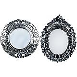 MADHUSUDAN GLASS WORKS Mirror & Plywood Wall Mirror (Pack Of 2, Silver) - B07BJ4KX9D