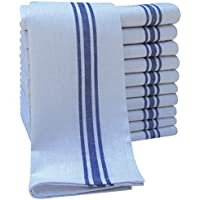 Pack of 10 Cotton Catering Tea Towels, Restaurant Kitchen Glass Cloths