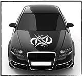 DD 2405_50 dotzler design autocollant pour lunette arrière ou capot-moteur dimensions: env. 47 x 31 cm-autodekor graz design autocollant pour voiture stickers autocollants pour voiture motif tribal
