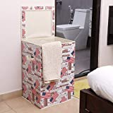 Best Laundry Racks - Kurtzy Cotton 60L Foldable Laundry Basket, Multicolour Review