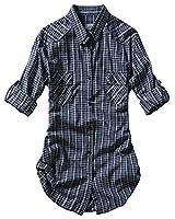 Match Women's Flannel Plaid Shirt #B003(2022 Check#3,Medium)