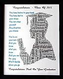 """Nouveaux services personnalisés homme ou femme la graduation mot Cadeaux Design Art (B). Présenté en 8"""" x 10"""" châssis avant en verre. Don unique & souvenir, réduire les frais de poste/voyage sur toutes les destinations"""