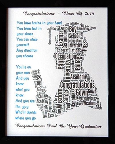 Maschio o femmina personalizzato 'laurea' regalo word art. design (b). presentato in 8