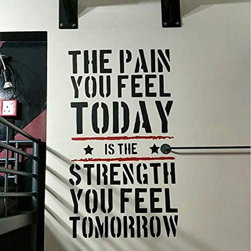 Der Schmerz, Den Sie Heute Fühlen Home Fitness Gym Wandaufkleber, Krafttraining Vinyl Wand Kunst Wandtattoo Raumdekorationen