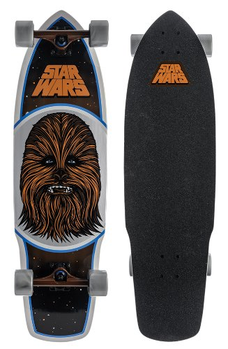 Santa Cruz Skateboard Longboard Star Wars Chewbacca, Brown, 10.0 Zoll x 35.0 Zoll, SANLOBSTWACH