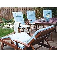 Cojín para tumbona de jardín azul claro TOSCANA/JAVA