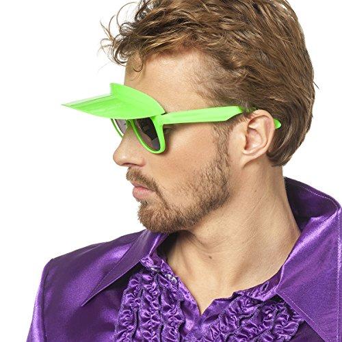 Jannes 20102 Farbige Sonnebrille mit Blende Visier Sonnenschutz Neon-Grün