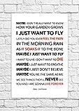 Oasis-Live Forever-Lyrical Song-Poster con stampa artistica, non incorniciati