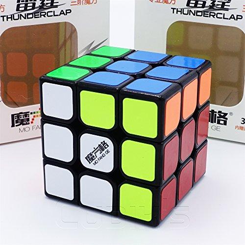 QiYi *THUNDERCLAP* V1 - 3x3 Professionnel & Compétition Cube de Vitesse Speed Cube Rubik's Cube Puzzle 3D - Noir / BLACK