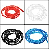 #3: Veena Blue 2M Spiral Cable Wire Tidy Wrap Hide Banding Wire Management for Pc Home Tv 450Mm