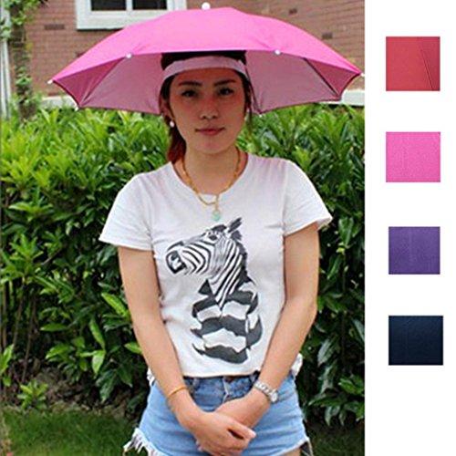 Y56 Regenschirm Hut Sonnenschirm Hat Neuer im Freien Faltbarer Sonnenregenschirm-Hut-Golf, der kampierenden Headwear-Kappen-Kopf-Hut fischt