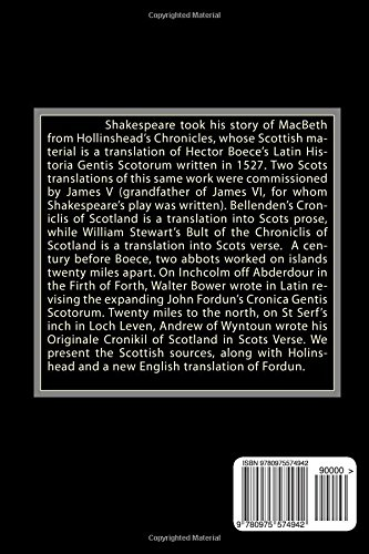 MacBeth: the Scottish Story: A Compilation of Scottish and English Sources