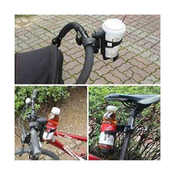 Sunnyflowk Baby Stroller Bottle Holder Child Car Accessories Bicycle Adjustment Clip (Black) Sunnyflowk  2