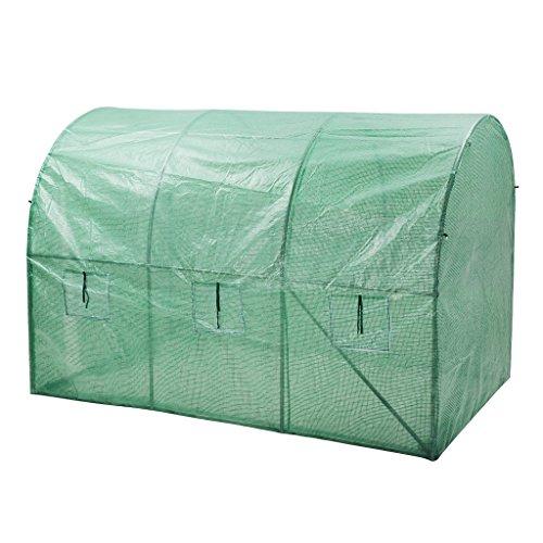 finether-gewaechshaus-pflanzenhaus-foliengewaechshaus-tomatenhaus-garten-treibhaus-mit-6-fenster-folientunnel-folienhaus-folienzelt-ca-6m%c2%b2-fuer-zimmerpflanzen-kraut-blume-300x200x200cm-2