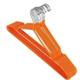 10pcs/lot 41,5cm adulto colgador de metal antideslizante perchas multicolor, naranja
