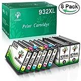 GREENSKY 8 Paquetes Cartucho de Tinta compartible de reemplazo para HP 932XL 933XL para HP Officejet 6100 6600 6700 7110 7610 7612 Impresora - (2 Negro, 2 Cian, 2 Amarillo, 2 Magenta)