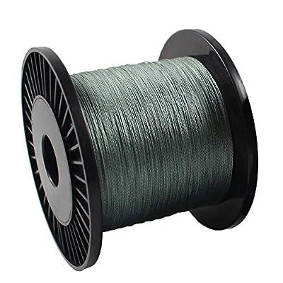 OurWarm 20lb/9.0kg 4strands Spectra braid Fishing Line 500M Dark Silver by OurWarm