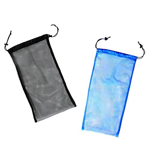 MagiDeal 2 Stücke Netztasche / Mesh Bag, Tauchen Schnorcheln Schwimmen Tragetasche Transporttasche