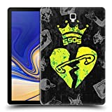 Head Case Designs Offizielle 5 Seconds of Summer Sacred Heard Gemalte Symbole Ruckseite Hülle für Samsung Galaxy Tab S4 10.5 (2018)