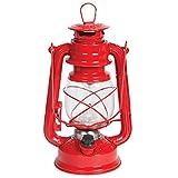 Red Cliffs Nostalgie Sturm Laterne LED Camping Lampe Zelt Garten Leuchte dimmbar Rot
