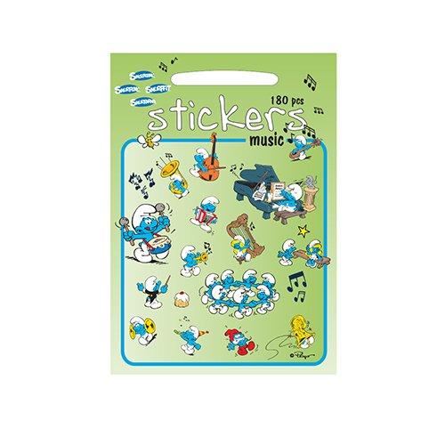 Los Pitufos - Stickers Música Barbo Toys 8001