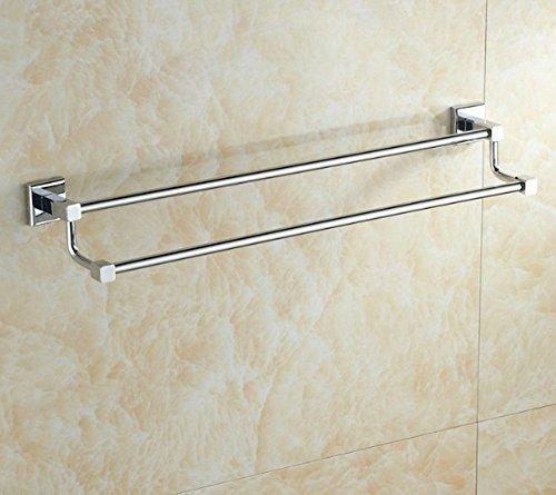 GuoEY Platz Doppel Handtuchwärmer, Kupferstäbe, Regale, Badezimmer, Badezimmer Hardware Zubehör
