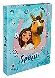 Undercover SIIT0940 Heftbox A4 mit Spanngummi, DreamWorks Spirit, blau-pink
