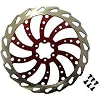 Clarks 180mm Wavey 6 Bolt Bicycle Bike Disc Brake Rotor in RED