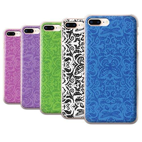 Stuff4 Hülle / Case für Apple iPhone 8 Plus / Rot Muster / Insekten Muster Kollektion Pack (7 pcs)