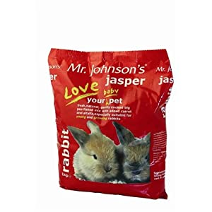 Jasper Rabbit Food Mix (Baby) 15kg - Mr Johnsons (TP)(JASPER15)