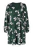 HALLHUBER Crinkle-Kleid in Wickeloptik ausgestellter Schnitt Multicolor, 38