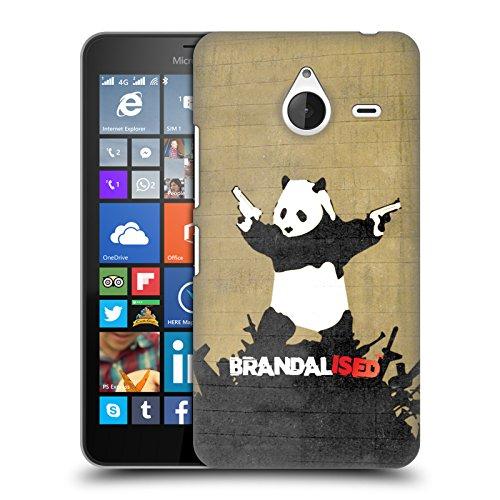 Preisvergleich Produktbild Offizielle Brandalised Panda Pistolen Banksy Kunst Straßenkünstler Ruckseite Hülle für Microsoft Lumia 640 XL / Dual SIM