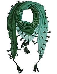 Superfreak® Baumwolltuch mit Farbverlauf und Fransen ° Tuch ° Schal ° 100x100 cm ° 100% Baumwolle ° alle Farben!!!