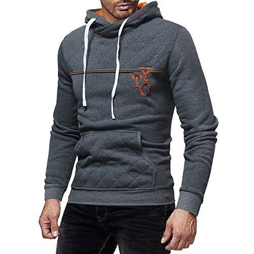 Kanpola Kapuzenpullover Herren Kapuzen Sweatshirt Outwear Langarm Shirt Bluse Hoodie Hoody Patchwork Pullover