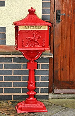 Traditional Huntingdon Post Box on Stand with Rear Lockable Access