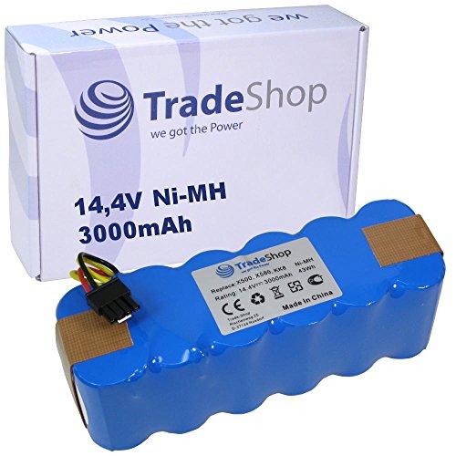 Trade-Shop Premium Ni-Mh Akku, 14,4V/3000mAh/43Wh ersetzt LP43SC2000P für Ariete Briciola 2712,...