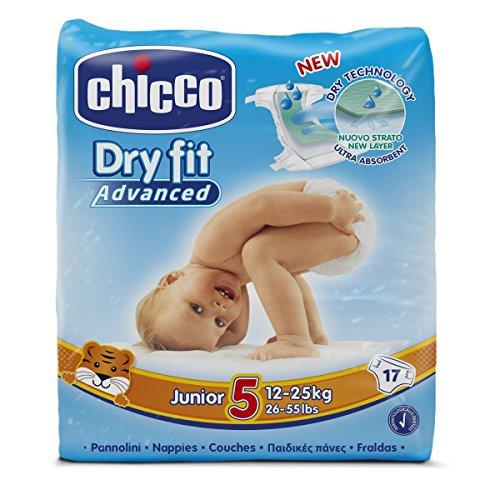 Chicco-Advanced Dry Fit-Set di 17-Pannolini per bambini, misura: 5
