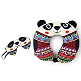 Cuddly Panda Travel Pillow With Eye Mask