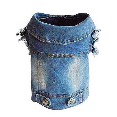 Sild Cool vintage délavé Veste en jean JumpSuit Blue Jean