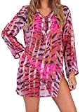 Boutique 78400 Tiger Print Kaftan Pink - Small