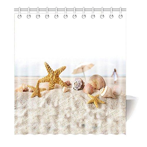 violetpos tenda doccia stella marina Sea Star Triton Horn alta qualità bagno, Poliestere, 160 x 180 cm