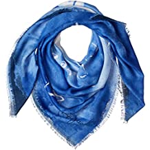Desigual Foulard Carré Femme Heart Bleu 18waif02 eb357be4a93