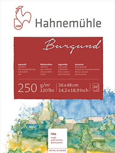 Hahnemühle Aquarellkarton Burgund, rau, 250 g/m², 36 x 48 cm, 20 Blatt