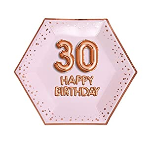 Neviti- Glitz & Glamour-Plate-Large-Pink & Rose Gold-Age 30 Papel (773208)