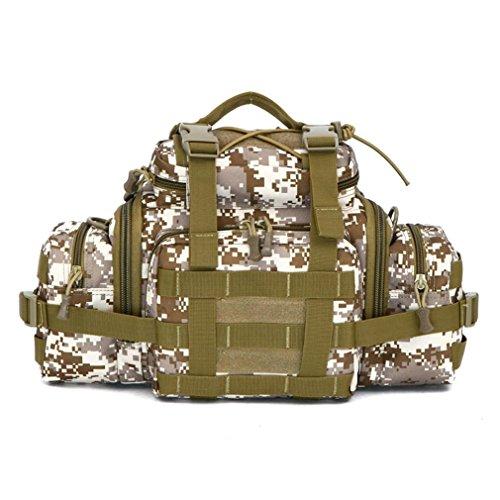 FFZH Uomini e donne borsa camouflage / Utility Tactical marsupio Molle militare Assault Pouch Trekking Escursionismo Bum Hip Pocket Ruck Sack portare borse , jungle number desert