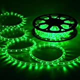 High Quality Waterproof LED Rope Light With Adapter For Decoration - 50 - Meters - Green Color (Phoenix Light)