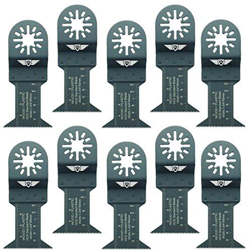 10x 44mm topstools un44F _ 10Holz Schneiden Klingen für Bosch, Fein Multimaster, Multitalent, Makita, Milwaukee, Einhell, ergotools, Hitachi, Parkside, Ryobi, Worx, Workzone Multitool Multi Tool Zubehör