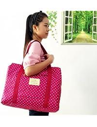 Petrice Fabric Lightweight Foldable Waterproof Shoulder Handbag (Color May Vary)
