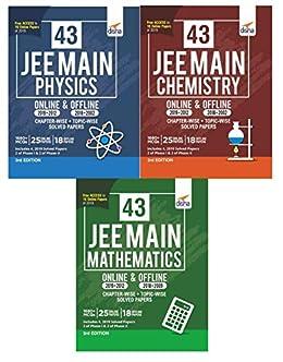 43 JEE Main ONLINE & OFFLINE Physics, Chemistry & Mathematics ...